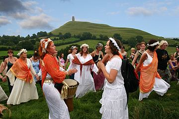 CelebratingnearGlastonburyTor
